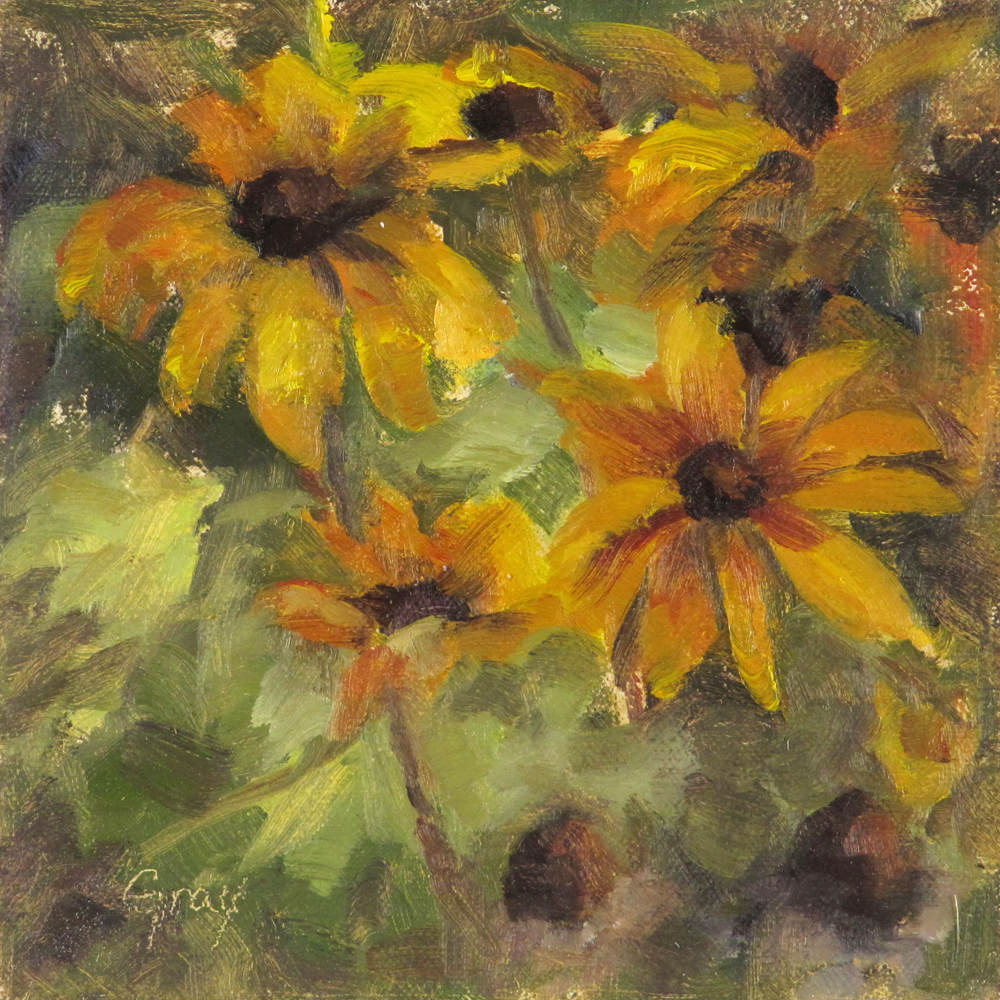 """Black Eyed Susans No.2"" original fine art by Naomi Gray"