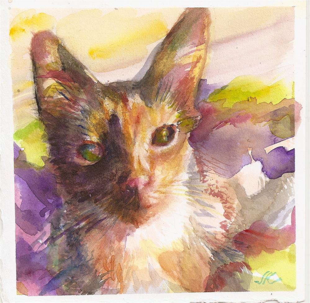 """Young Cat"" original fine art by Jean Krueger"