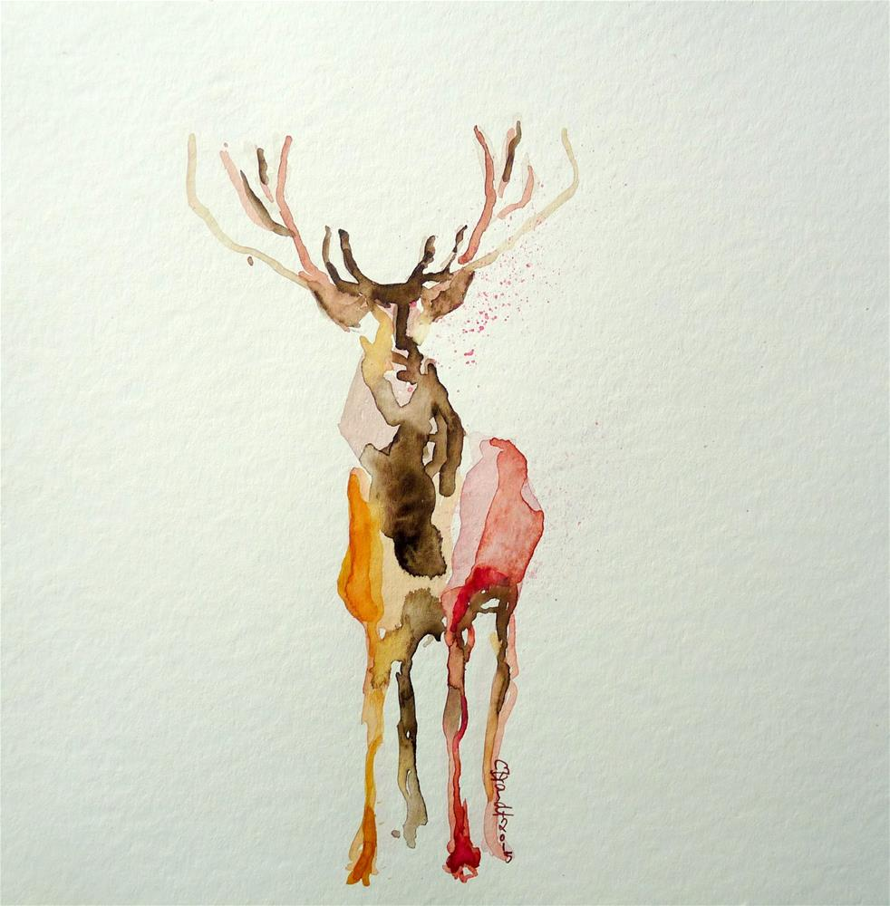 """deer"" original fine art by Claudia Brandt"