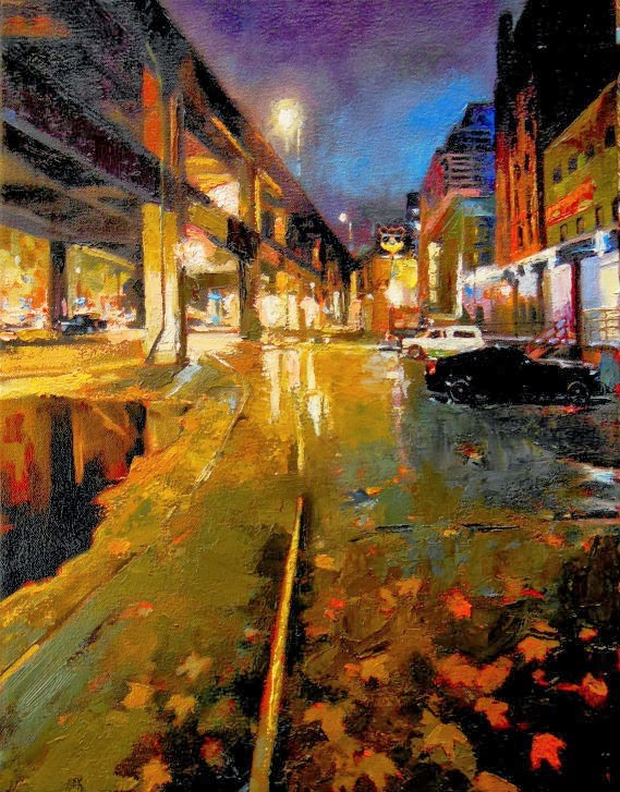"""Last Stand  Seattle City oil painting by Robin Weiss"" original fine art by Robin Weiss"