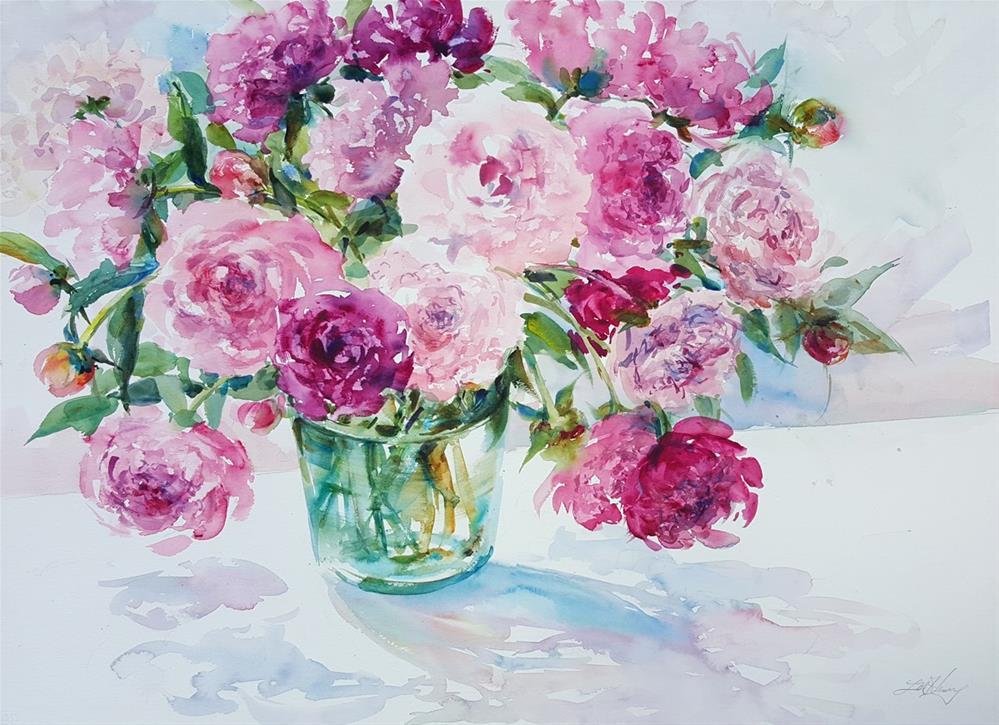 """Grandma's Garden"" original fine art by Linda Henry"