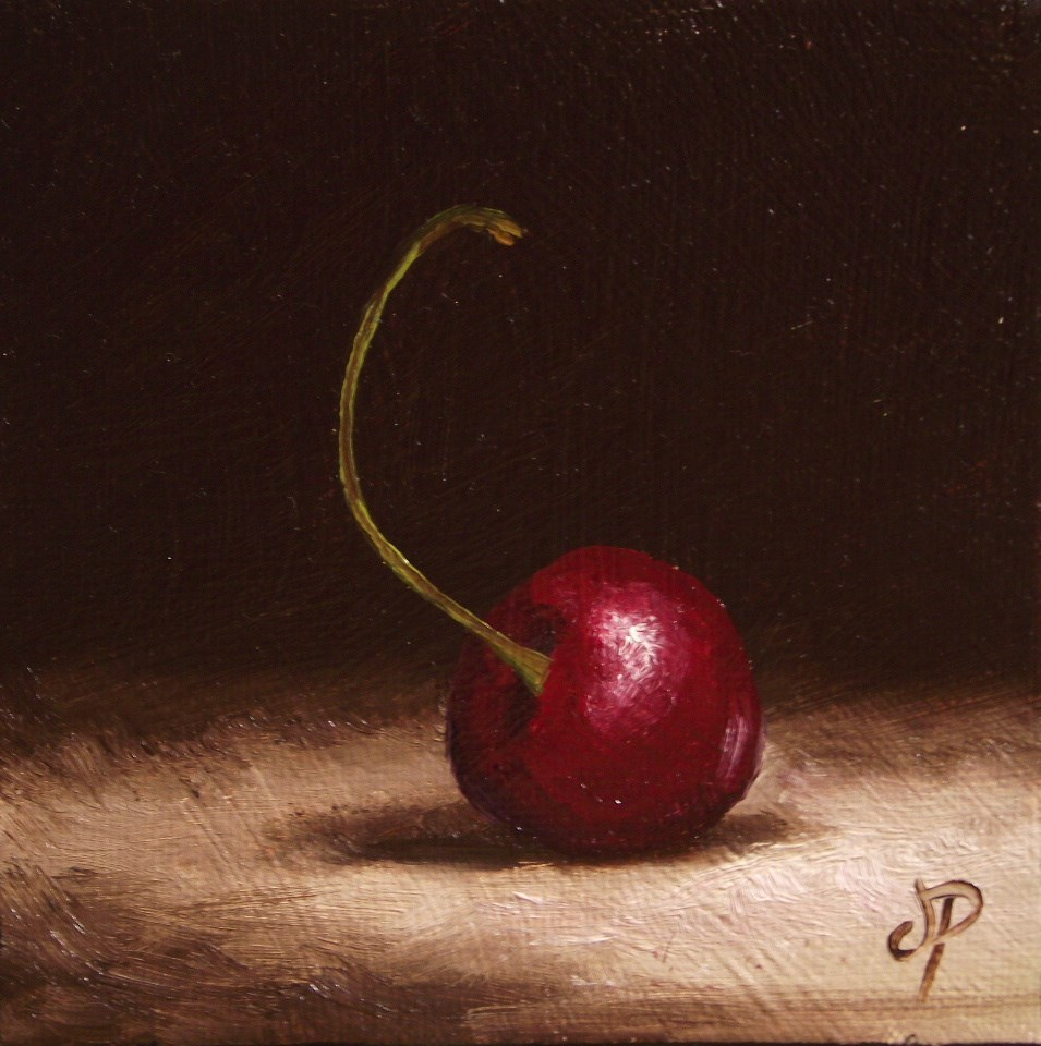 """Another Little Cherry"" original fine art by Jane Palmer"