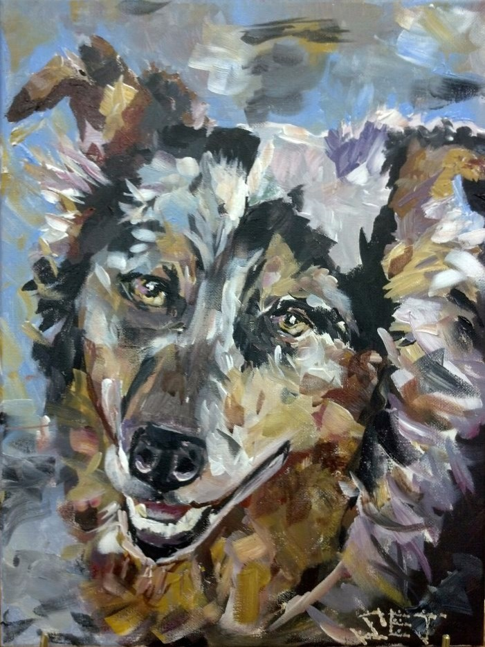 """Hank"" original fine art by Susan Elizabeth Jones"