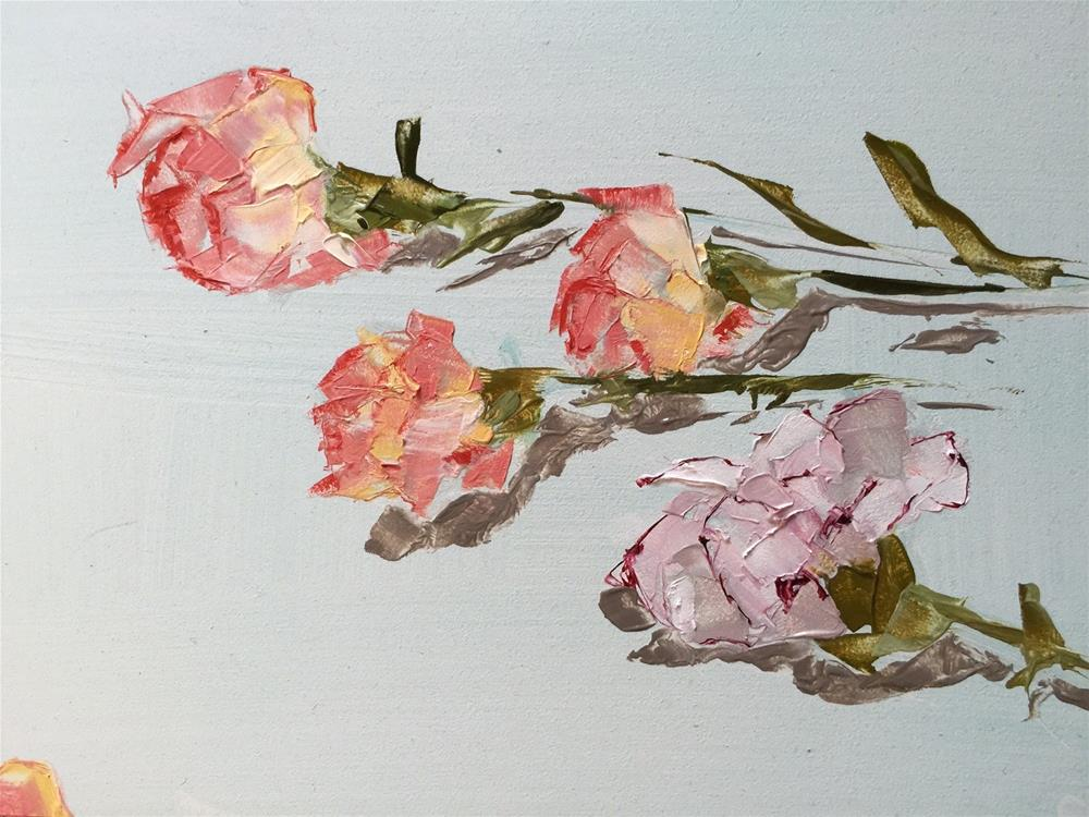 """152 Carnations"" original fine art by Jenny Doh"