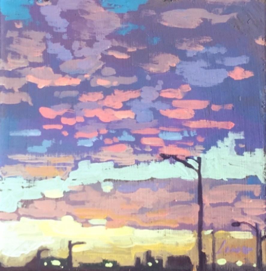"""New Orleans East"" original fine art by Chris Long"