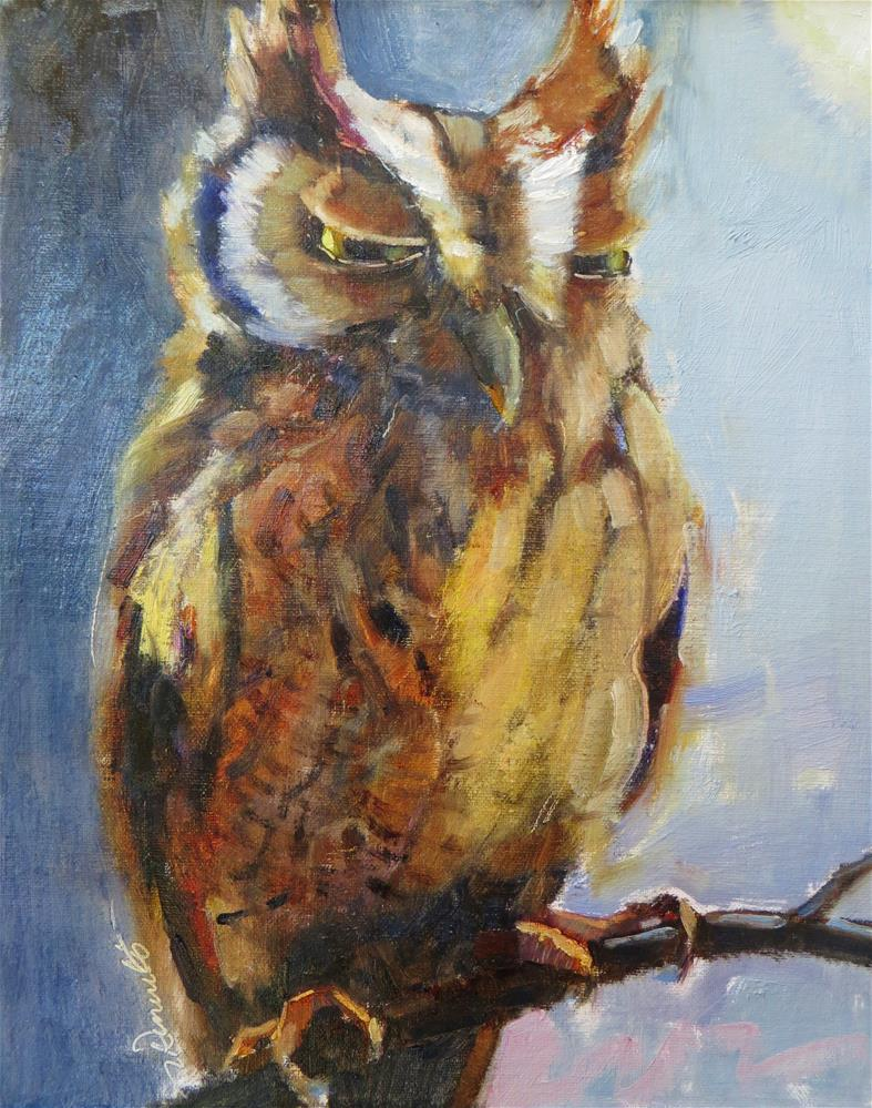 """It's Owl Good"" original fine art by Scarlet Owl Studio"