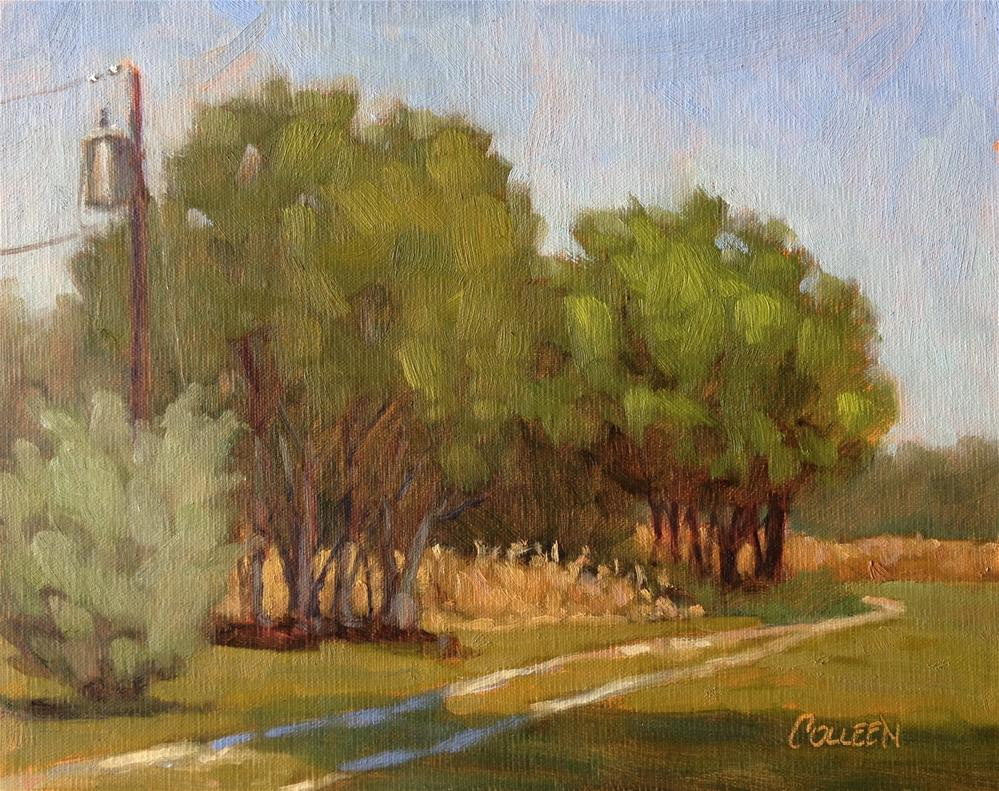 """Deer Corn #3"" original fine art by Colleen Parker"