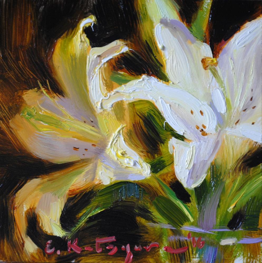 """Summer Lilies"" original fine art by Elena Katsyura"