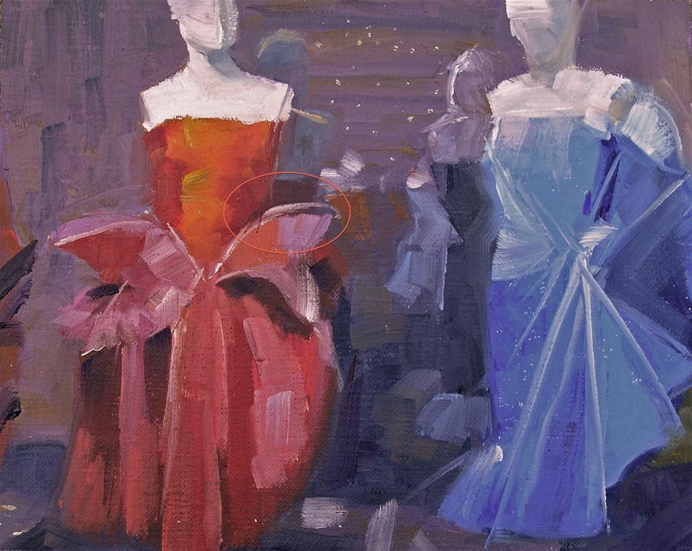 """Gowns"" original fine art by Nina Brodsky"