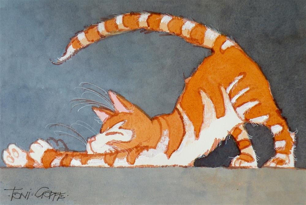 """""""Stretch"""" original fine art by Toni Goffe"""