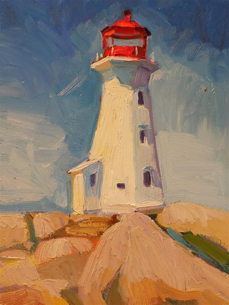 """""""Peggys Cove"""" original fine art by Rita Brace"""