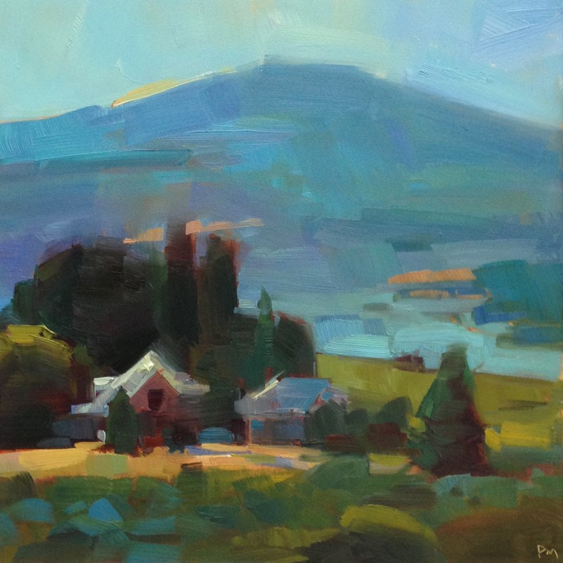 """Happy Hood River Home"" original fine art by Patti McNutt"