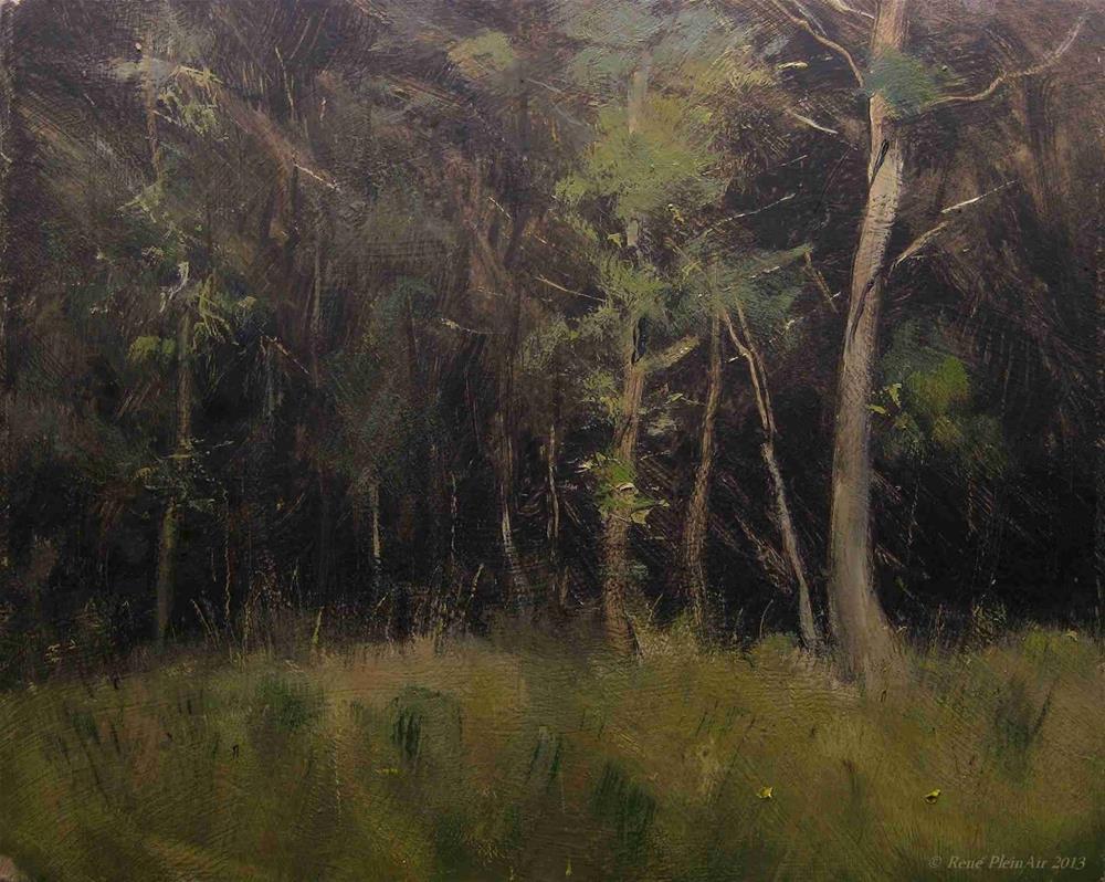"""Edge of the woods. Rheden, Holland."" original fine art by René PleinAir"