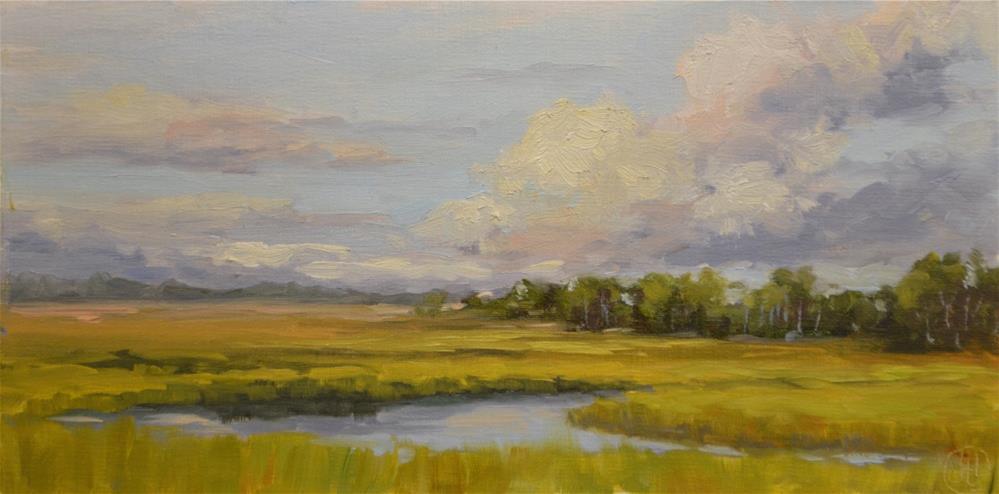 """""""marsh in late summer"""" original fine art by Dottie  T  Leatherwood"""