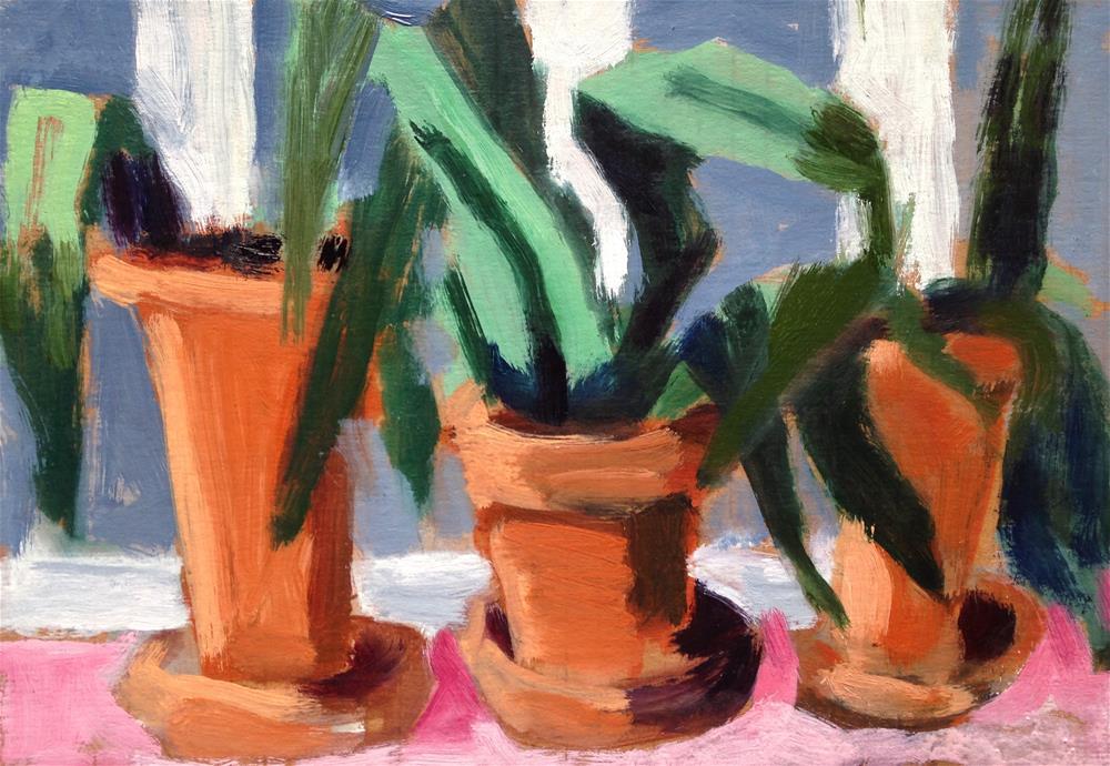 """Terracotta Trio"" original fine art by Pamela Hoffmeister"