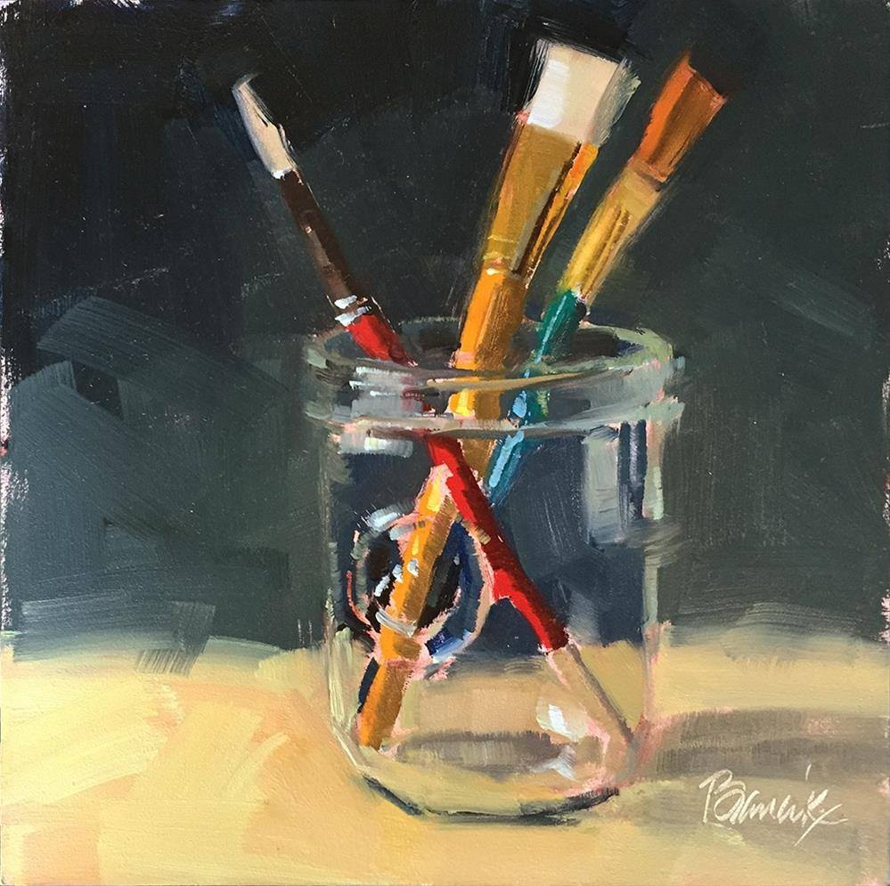 """Primary Brushes"" original fine art by Candace Brancik"