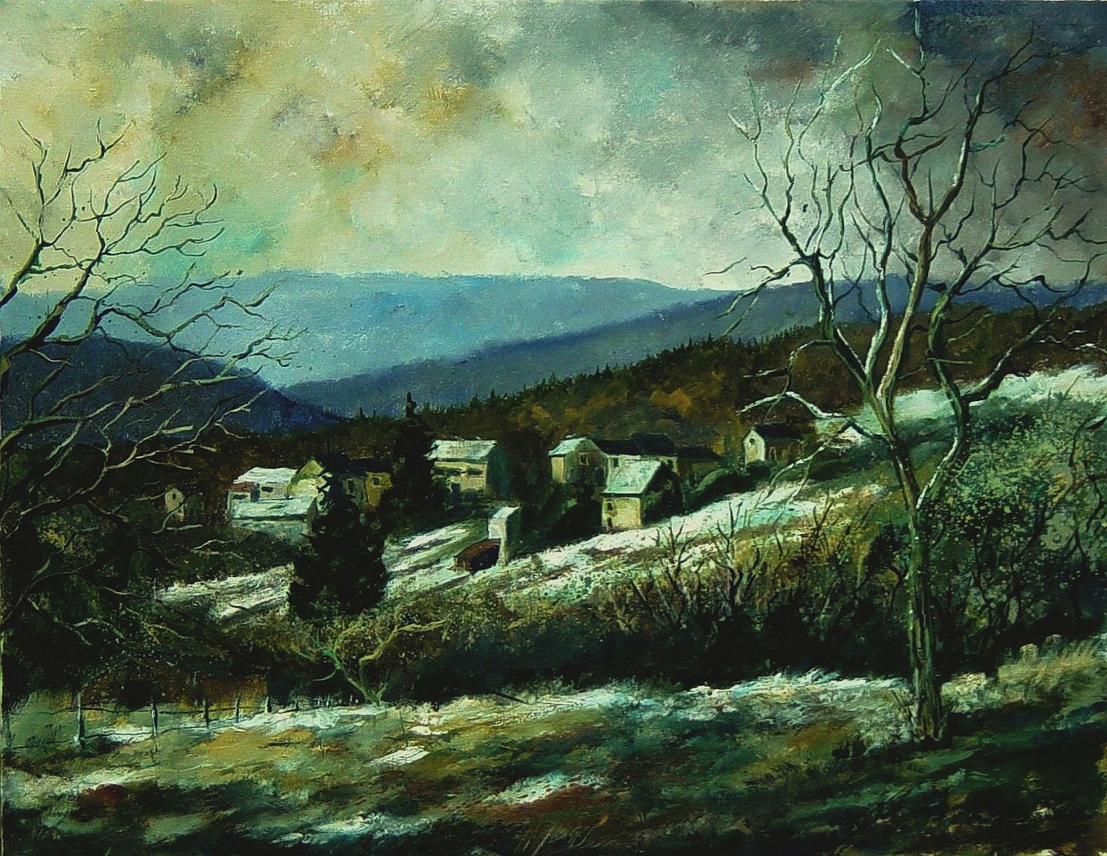 """End of winter"" original fine art by Pol Ledent"