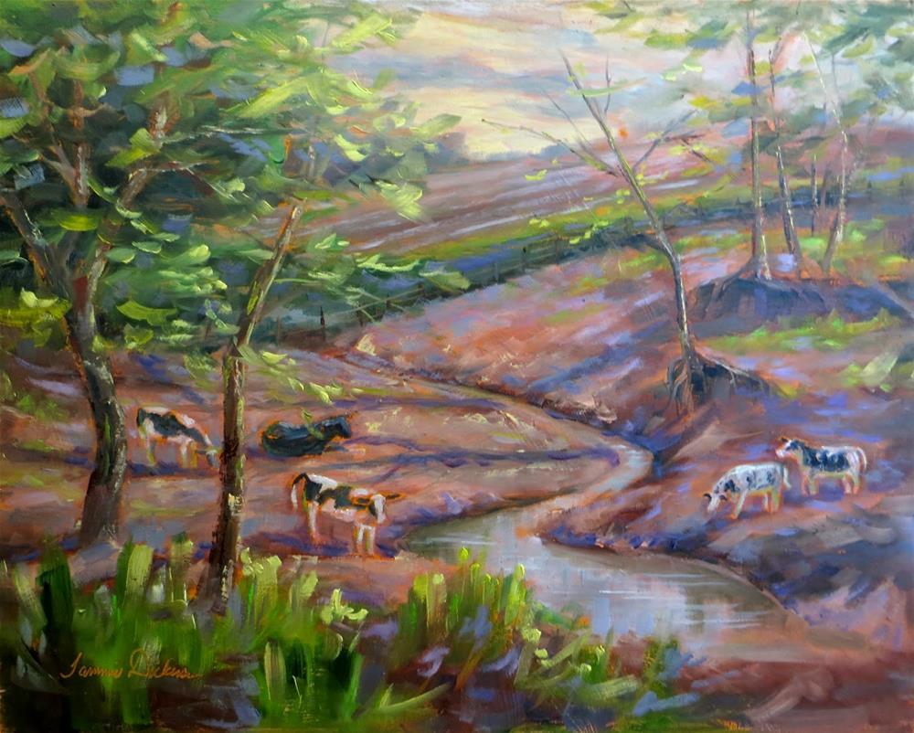 """""""Fields of Plenty"""" original fine art by Tammie Dickerson"""