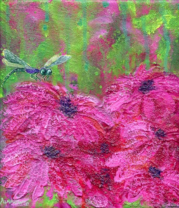 """DragonFly No. 15"" original fine art by Sue Furrow"