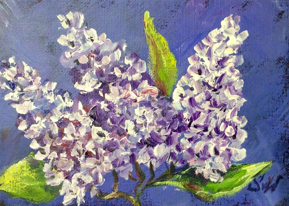 """Lilacs and purple"" original fine art by Sonia von Walter"