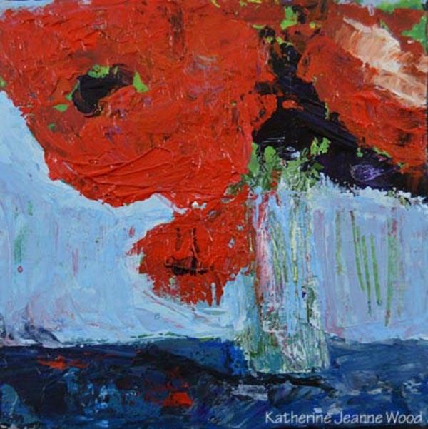 """Floral Series No 29"" original fine art by Katie Jeanne Wood"