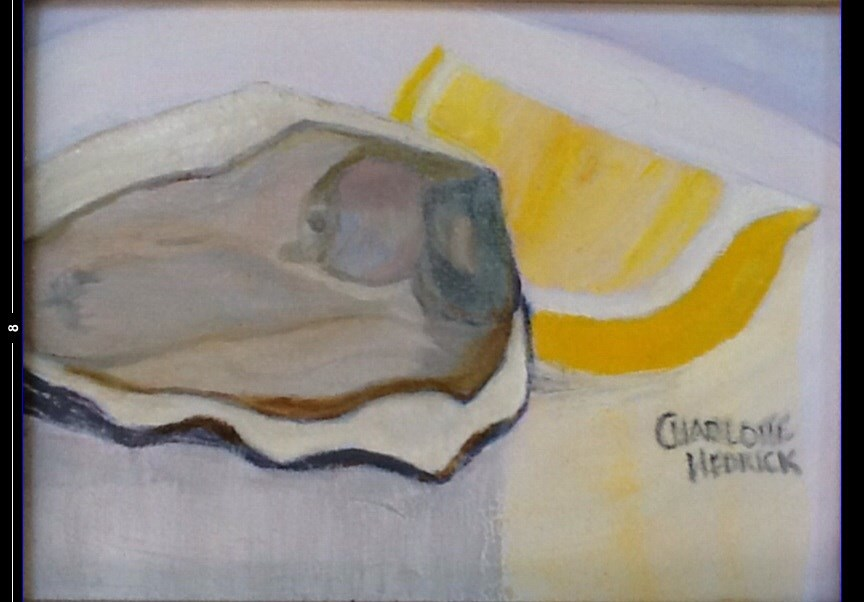 """OYSTER with LEMON"" original fine art by Charlotte Bankhead Hedrick"