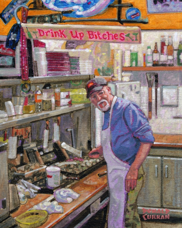 """Short Order Cook"" original fine art by Donald Curran"