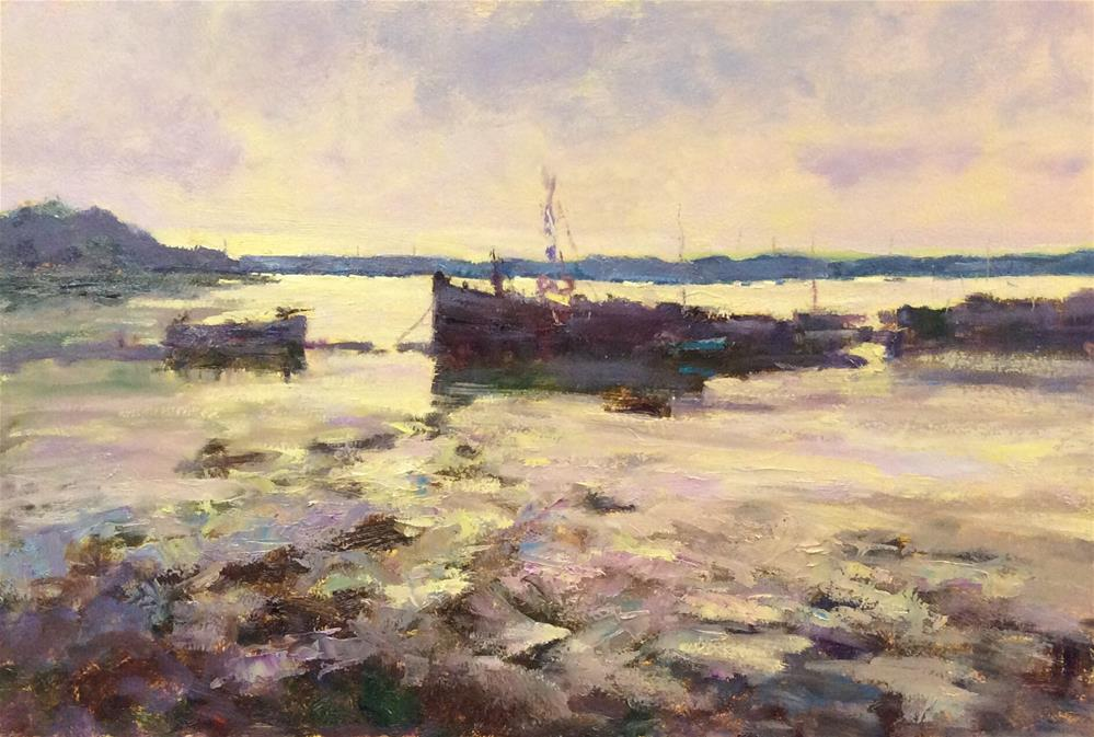 """Early Morning Pin Mill"" original fine art by John Shave"