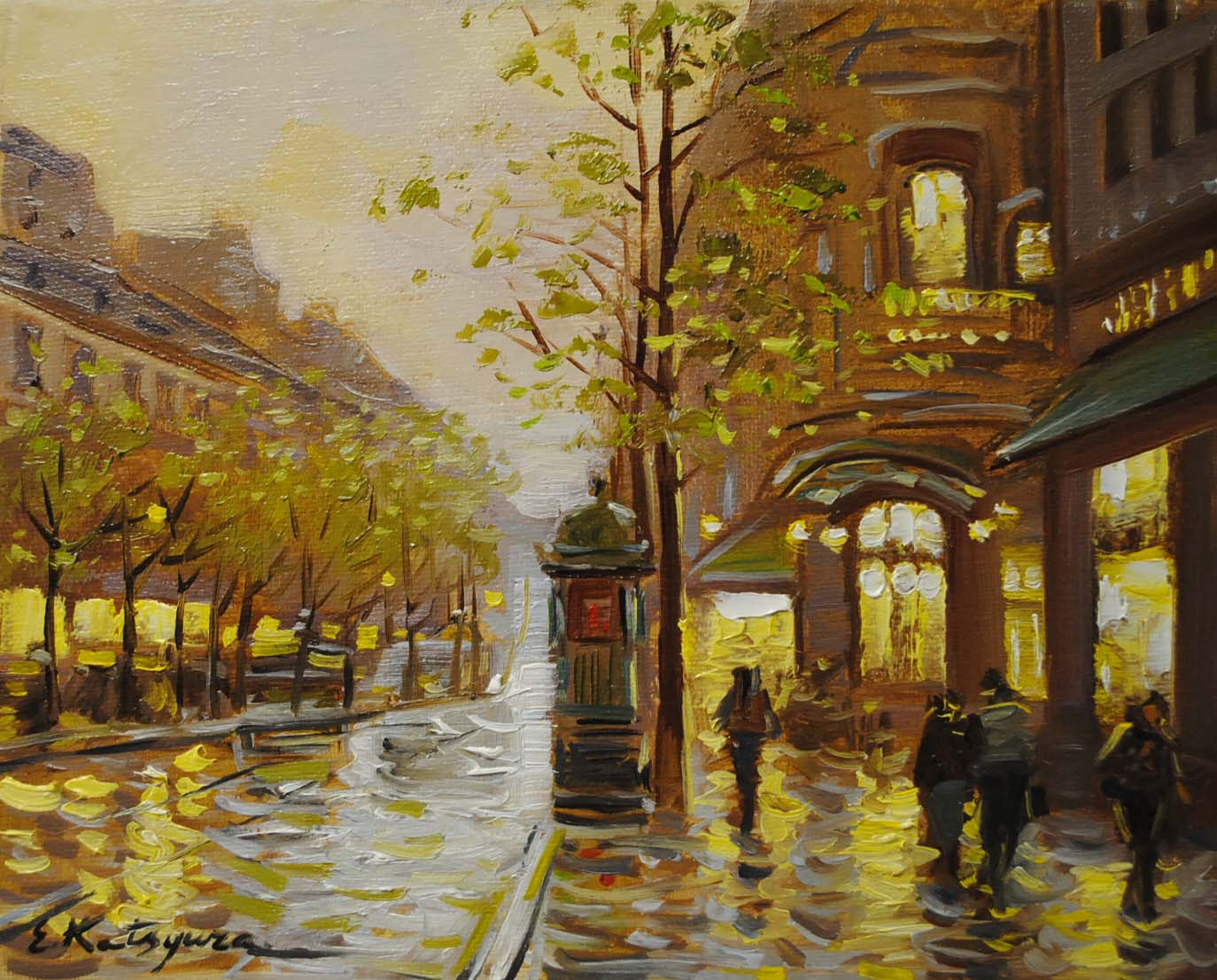 """After the Rain"" original fine art by Elena Katsyura"