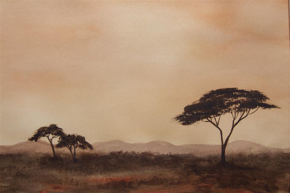 """Savannah Dawn"" original fine art by Jean Lurssen"