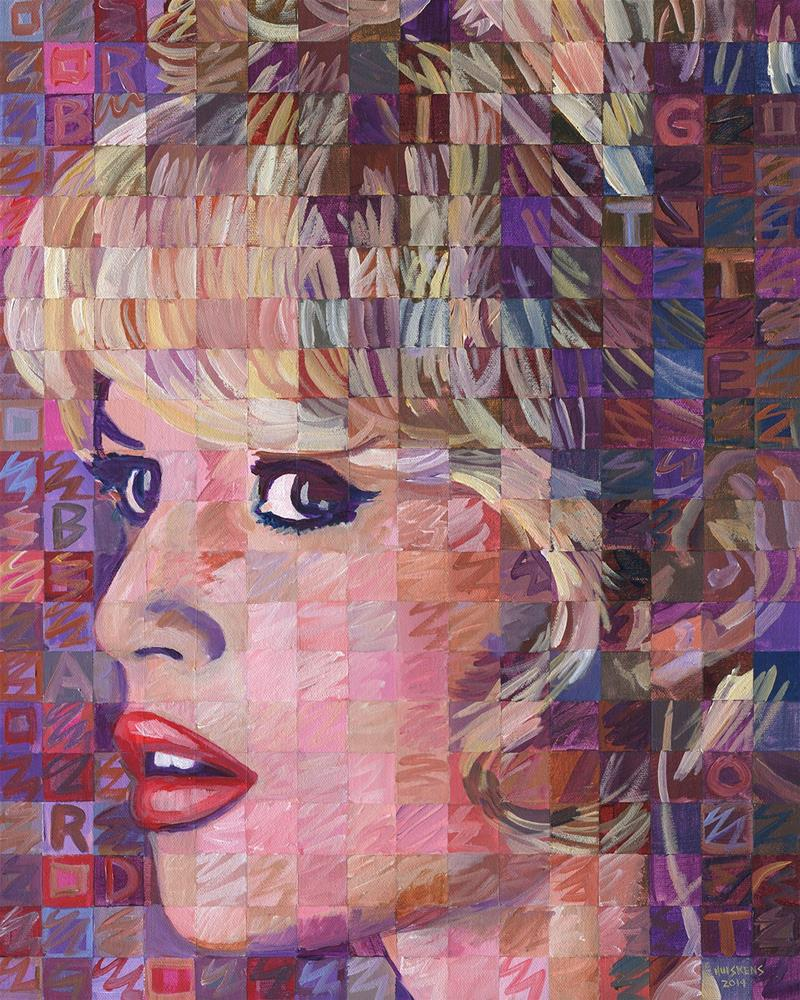 """Brigette Bardot #2"" original fine art by Randal Huiskens"