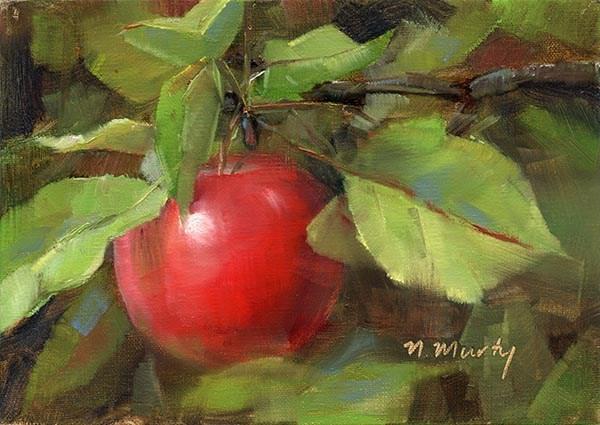 """""""Apple.1"""" original fine art by Nancy Murty"""