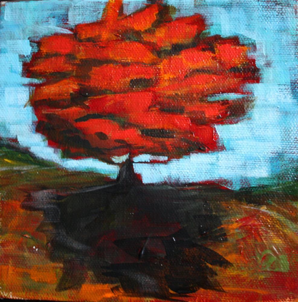 """Rockin Red"" original fine art by Kandice Keith"