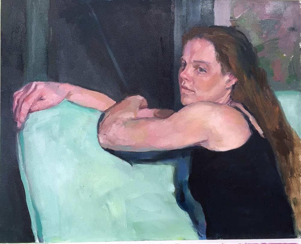 """February painting"" original fine art by Ellen Oconnell"