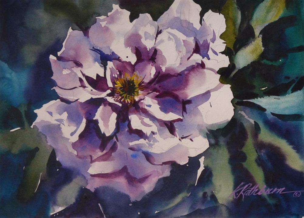 """Purple Peony"" original fine art by Kathy Los-Rathburn"