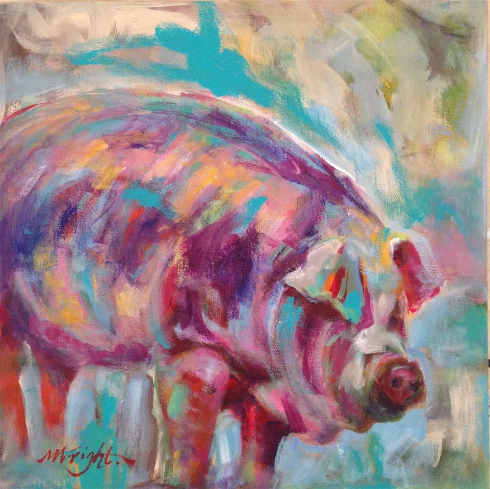 """This Little Piggy"" original fine art by Molly Wright"