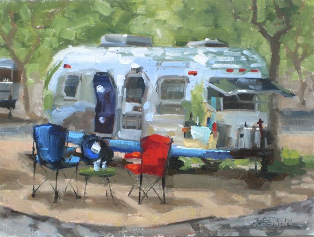 """Airstream Dream"" original fine art by Karen Werner"