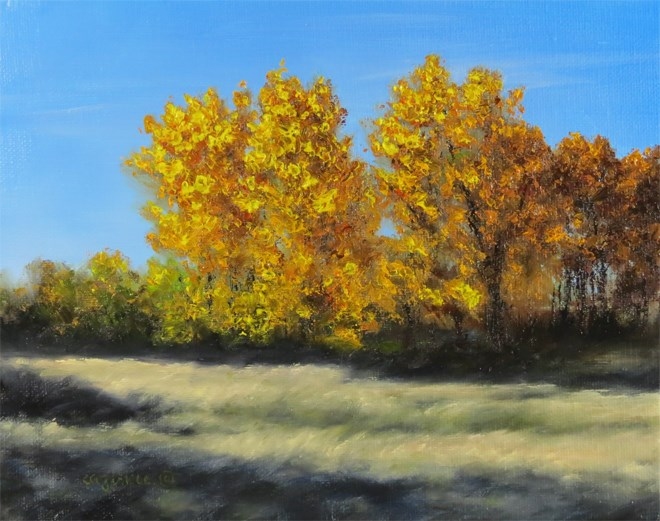 """Golden Grove"" original fine art by Carol Zirkle"