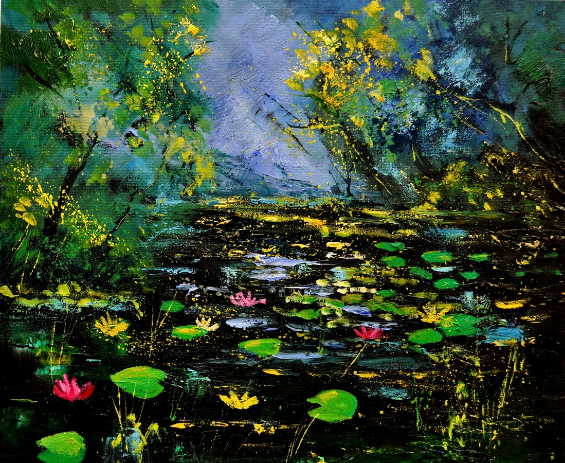 """Pond 561170"" original fine art by Pol Ledent"