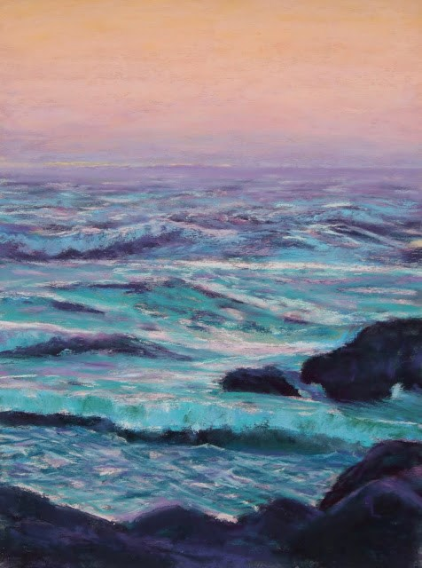 """The Lonely Sea"" original fine art by Sharon Lewis"