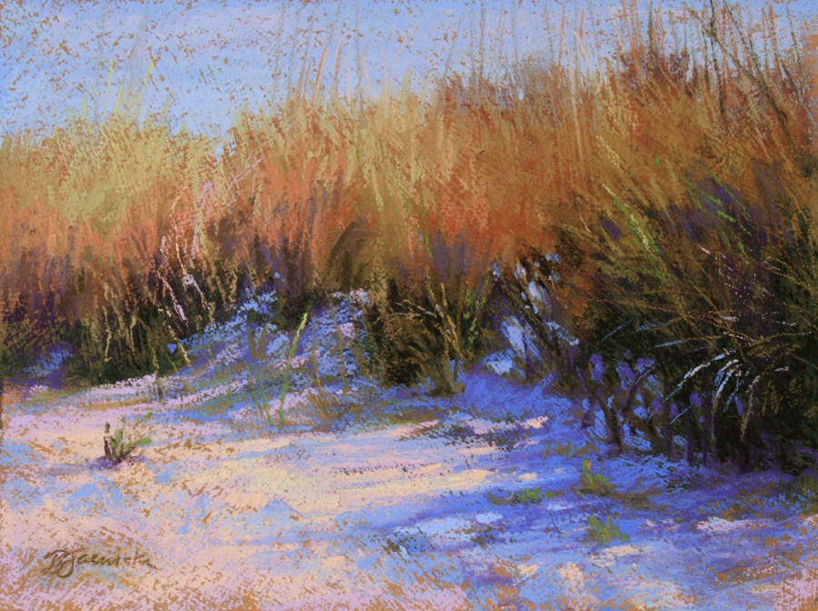 """Sand Dune Shadows"" original fine art by Barbara Jaenicke"