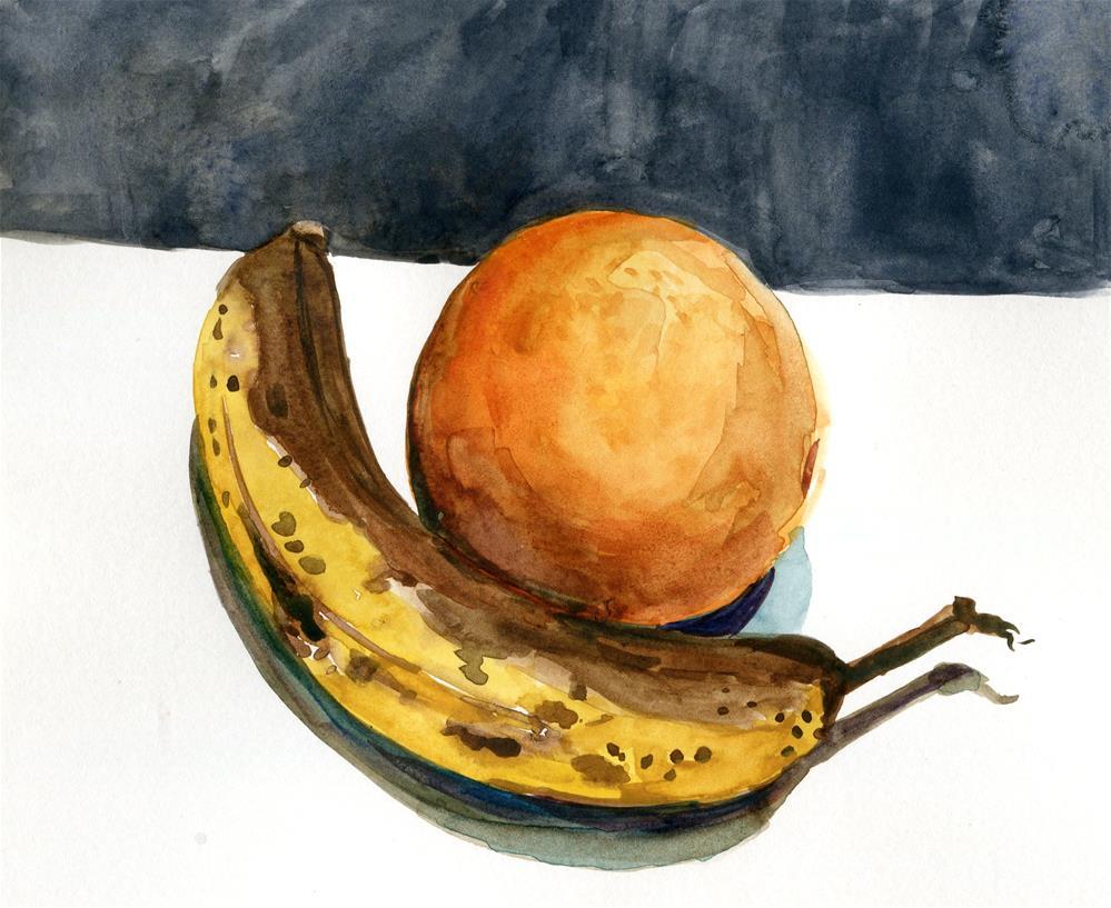 """Orange and Banana"" original fine art by Katy O'Connor"