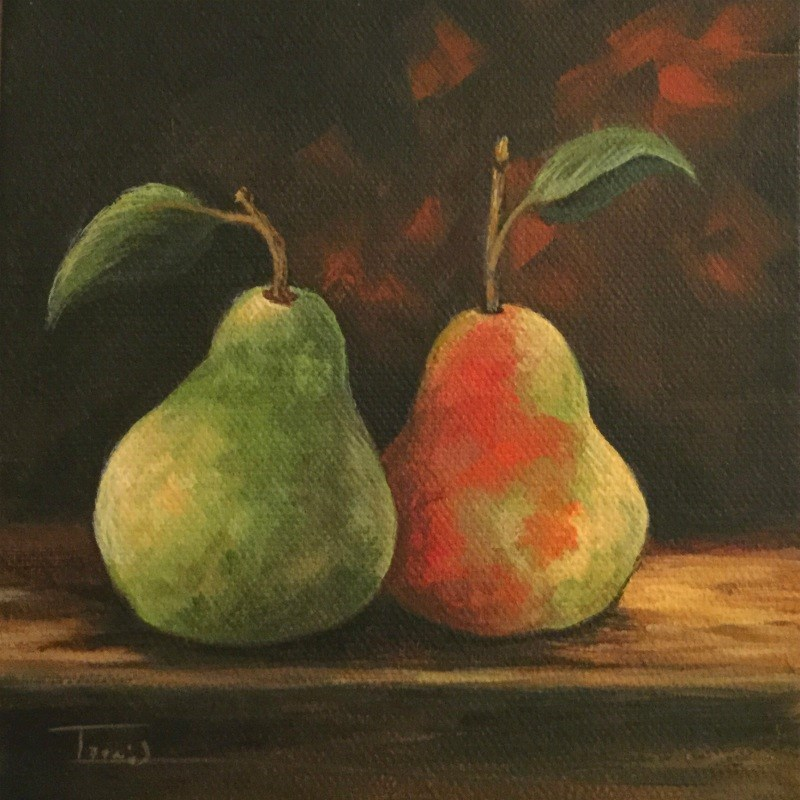 """Fall Pears"" original fine art by Torrie Smiley"