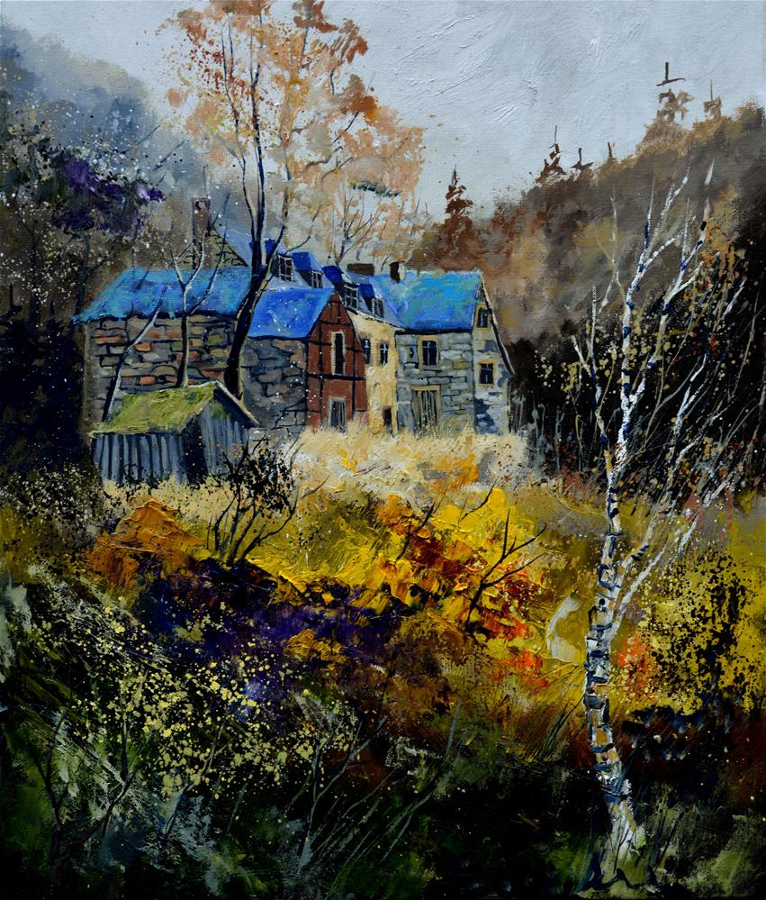 """Old mansion 675140"" original fine art by Pol Ledent"