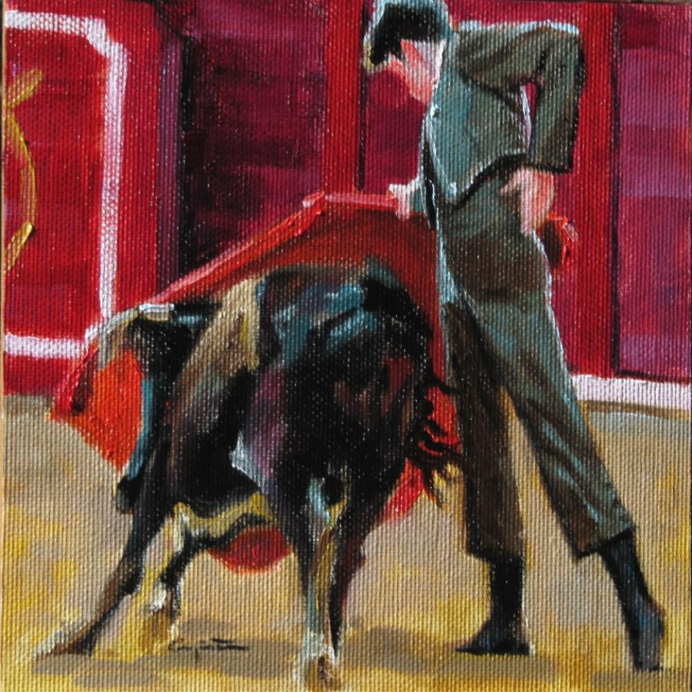 """""""Derechazo"""" original fine art by Eduardo Carpintero"""
