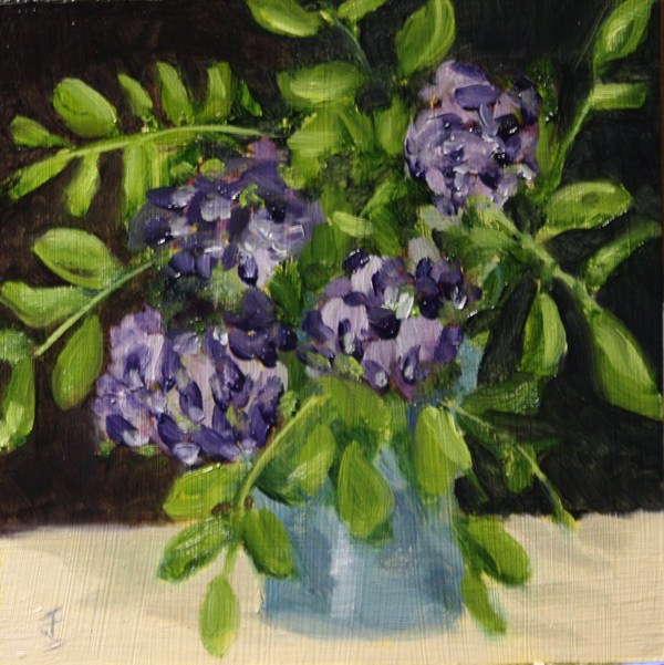 """Mountain Laurel"" original fine art by Jane Frederick"