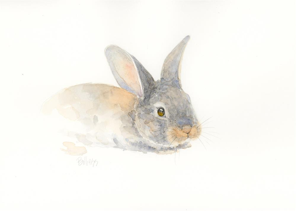 """Resting Rabbit III"" original fine art by Susanne Billings"