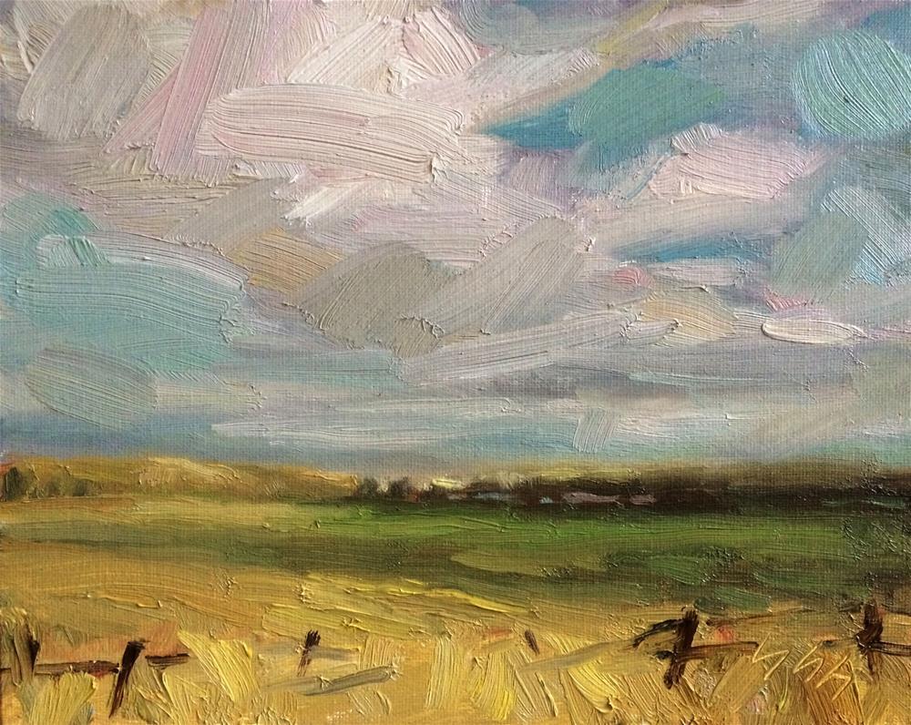 """Landscape"" original fine art by Yuehua He"