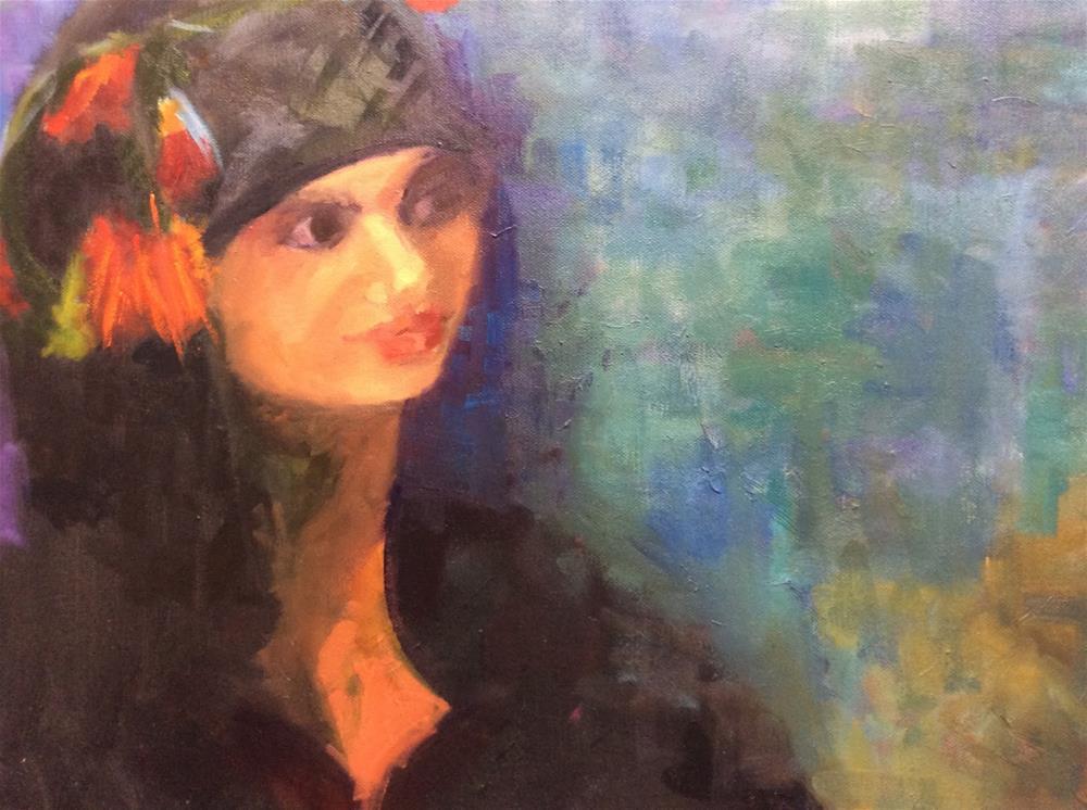 """Being Fearless"" original fine art by Peggy Schumm"
