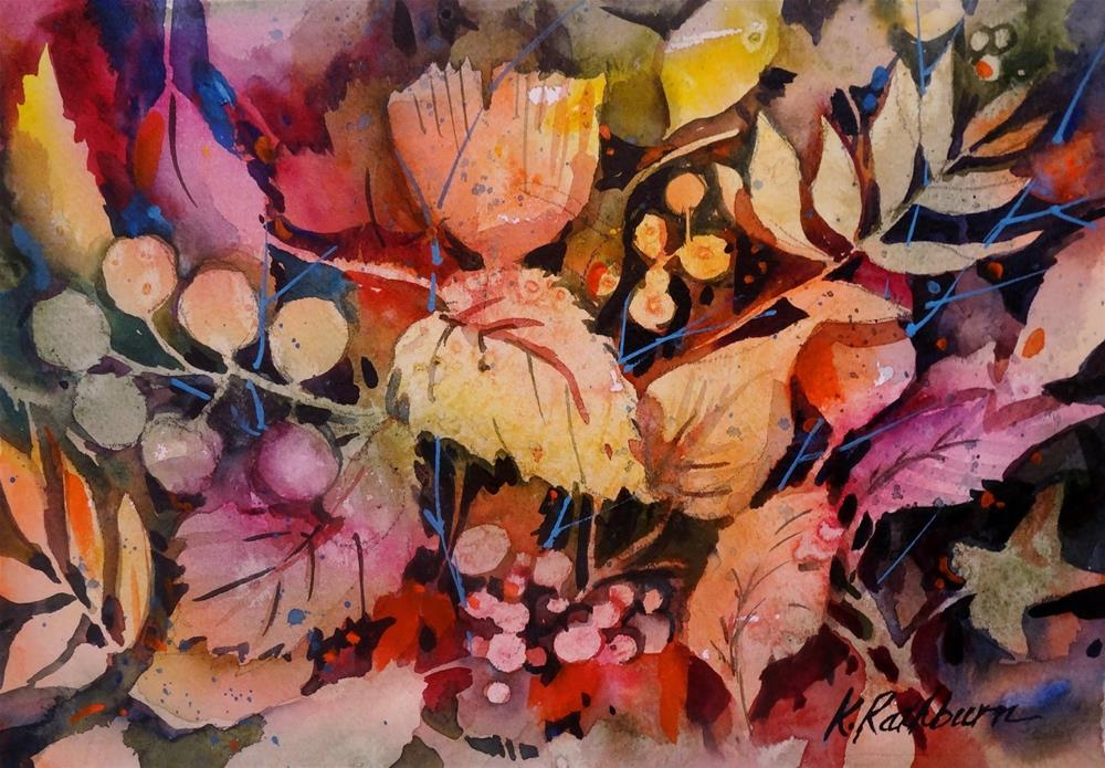 """morre leaves"" original fine art by Kathy Los-Rathburn"